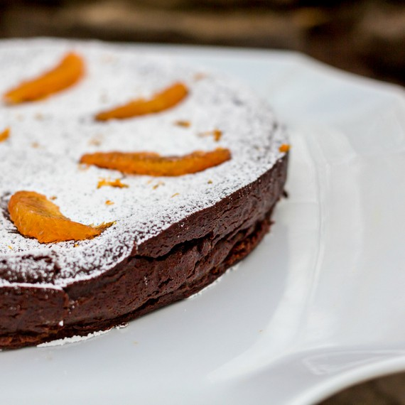 gluten-free chocolate orange truffle cake 2a