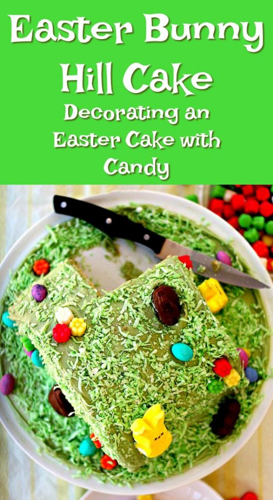easter bunny hill cake pin text reads
