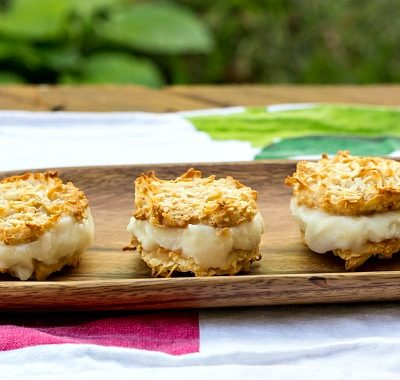 Pina Colada Buttermilk Sherbet (No Churn Required) | Ice Cream Tuesday