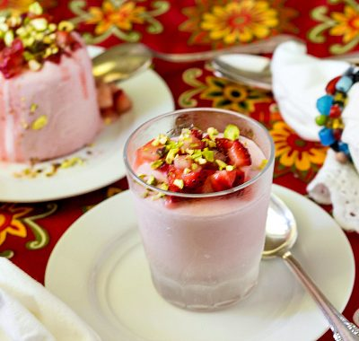 Strawberry Rose Kulfi with Pistachios | Progressive Eats