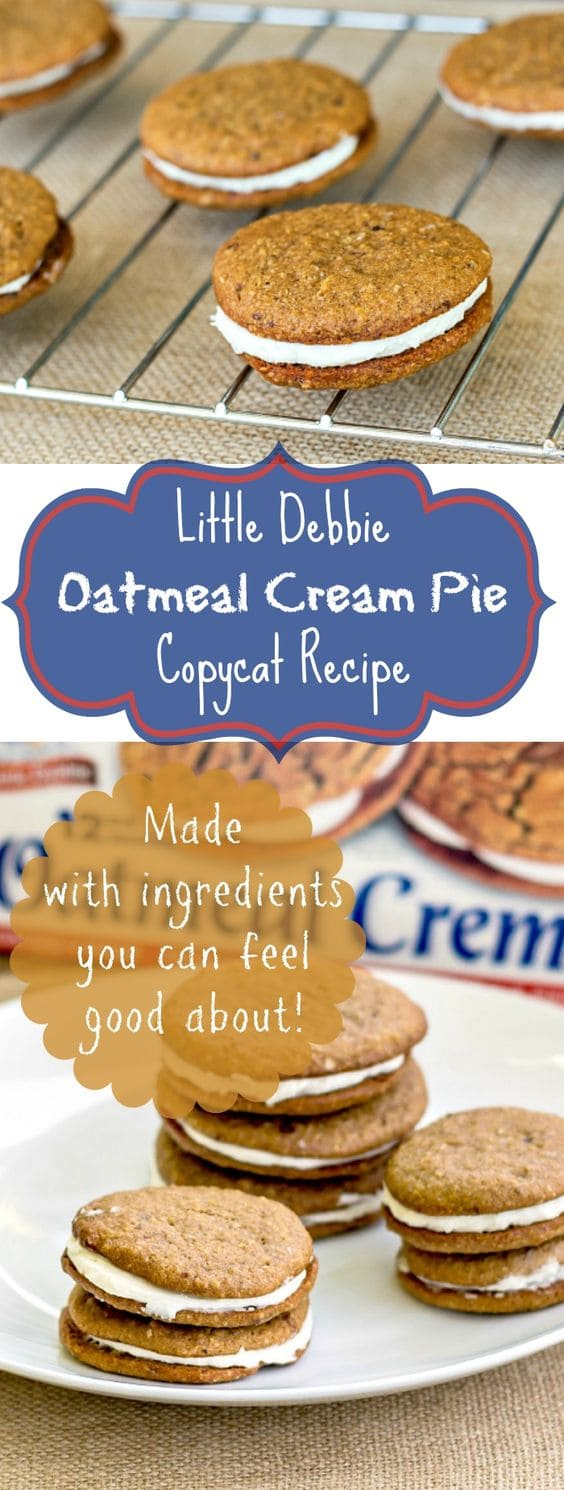 This is the best Little Debbie Oatmeal Cream Pies CopyCat recipe. The sandwich cookies don't just look like Little Debbies, they taste like them, minus the chemicals and artificial flavors. You will be amazed, and your kids will love these lunch box treats! | pastrychefonline.com