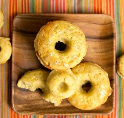 Lemon Dill Cornmeal Doughnuts with Havarti | Happy National Doughnut Day!