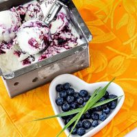 Blueberry Lemongrass Ice Cream