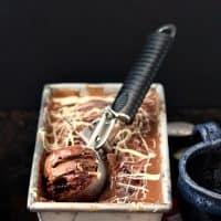 Chocolate Cherry Almond Gelato with White Chocolate Stracciatella