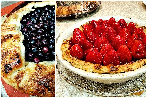 summer pie and ice cream | blueberry galette and orange mascarpone strawberry pie, both coming soon | pastrychefonline.com