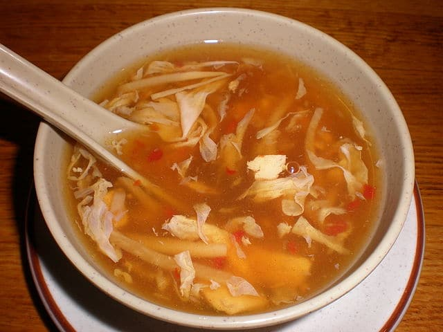 Example of Asian Flavor Pairing: using all 5 tastes in one dish: Hot and Sour Soup