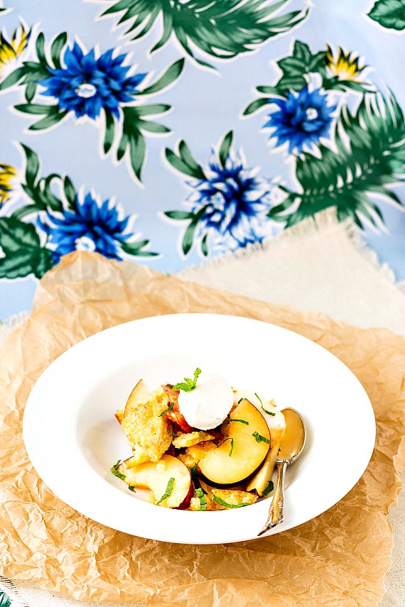 Dessert Panzanella: Stone Fruit Panzanella Dulce | pastrychefonline.com