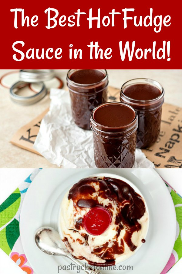 This is the best hot fudge sauce recipe in the world. i am not kidding, y'all. This recipe makes a generous quart, so it's perfect for giving OR keeping and serving to a crowd. #hotfudge #dessertsforacrowd