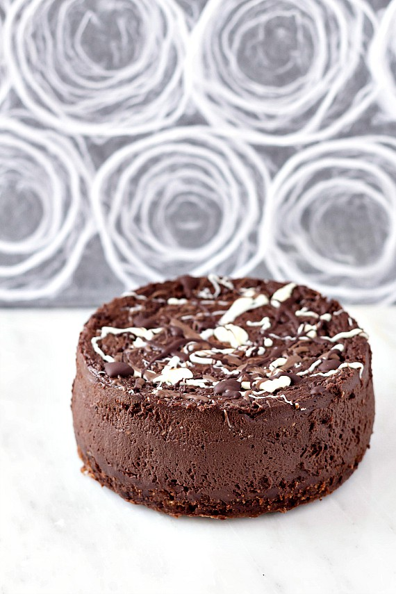 The Best Double Chocolate Cheesecake in the world. Why? Because it's made with brown sugar and some instant coffee for depth of flavor as well as both bittersweet chocolate and cocoa powder for chocolatey goodness. It is creamy, decadent and deliciious. | pastrychefonline.com