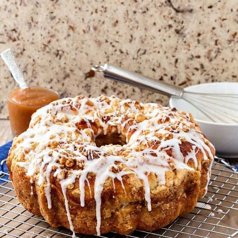 Apple Butter Coffee Cake with Chai Spice