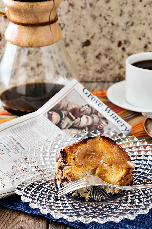 Yeasted Chai Spiced Apple Butter Coffee Cake, the best thing to happen to a cup of coffee since cream.   pastrychefonline.com