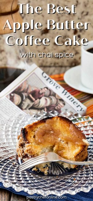 pin image for apple butter coffee cake