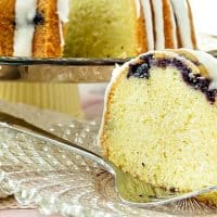 Blueberry Lemongrass Pound Cake