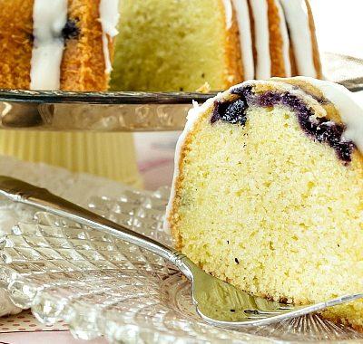 Thai-Inspired Blueberry Lemongrass Pound Cake (Nancie Cake)