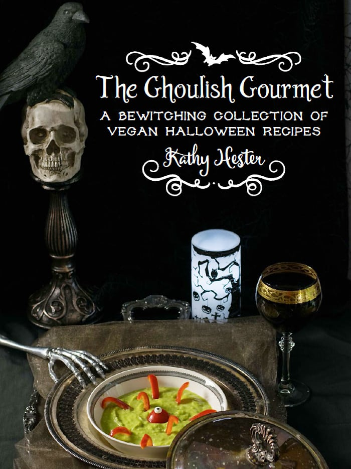 The Ghoulish Gourmet: A Bewitching Collection of Vegan Halloween Recipes by Kathy Hester. The perfect eCookbook to get you in the Spirit!