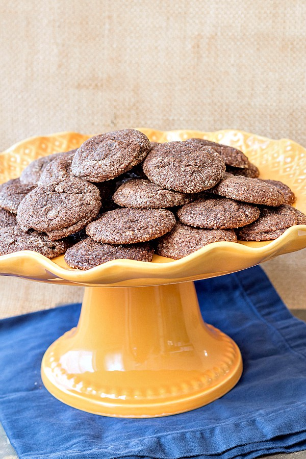 Heavenly Chocolate Pecan Delight Cookies: Rich, fudgy, dark, not-too-sweet little bites of creamy deliciousness. A little crisp on the outside with a decadent truffle-like center. Such a good cookie! | pastrychefonline.com