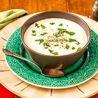Cream of Cauliflower Soup with Browned Butter