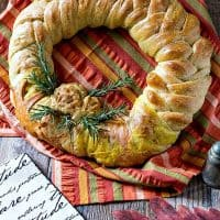 Thanksgiving Wreath Braided Bread Centerpiece