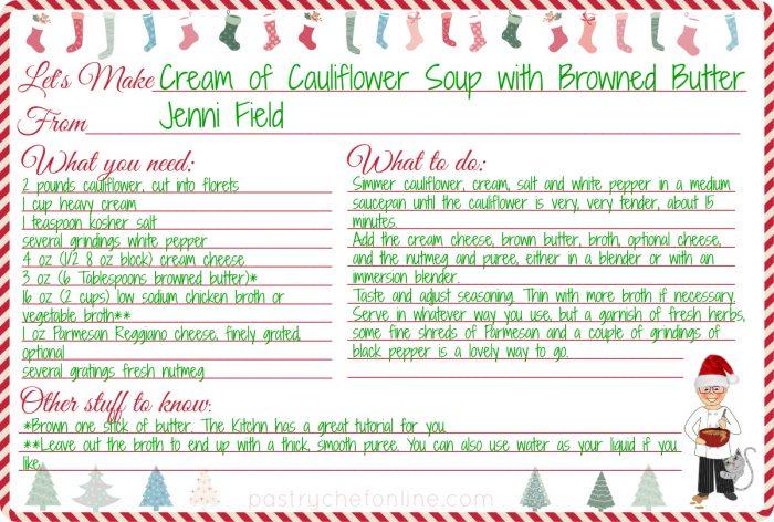 Cream of Cauliflower Soup Recipe