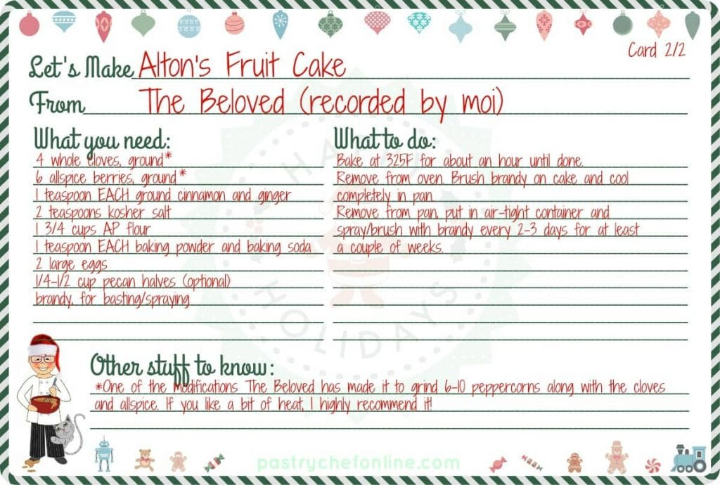 Fruit Cake Recipe 2