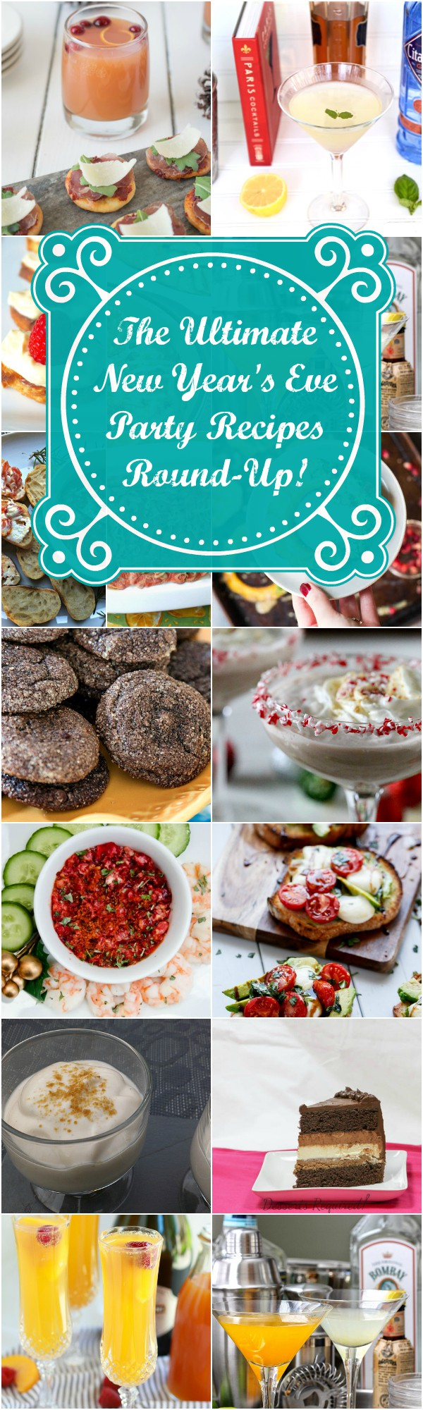 Consider this your ultimate guide to New Year's Eve Party Recipes. This round-up contains almost 200 party recipes from vegan and vegetarian appetizers, to meaty apps and seafood, all manner of cocktails and desserts from cupcakes to parfaits! Find your New Year's Eve Cocktail Party Menu right here! | pastrychefonline.com