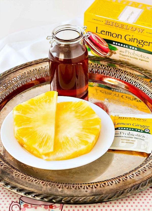 fresh pineapple and raw honey