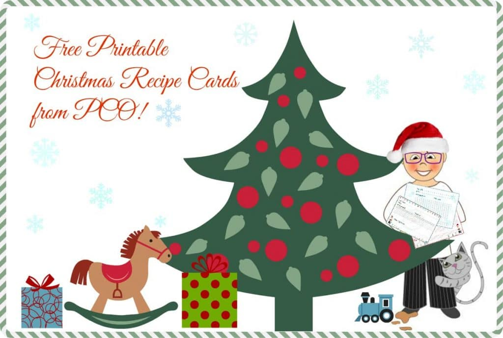 image regarding Printable Christmas Recipe Cards named Totally free Printable Recipe Playing cards for Xmas Pastry Chef On line
