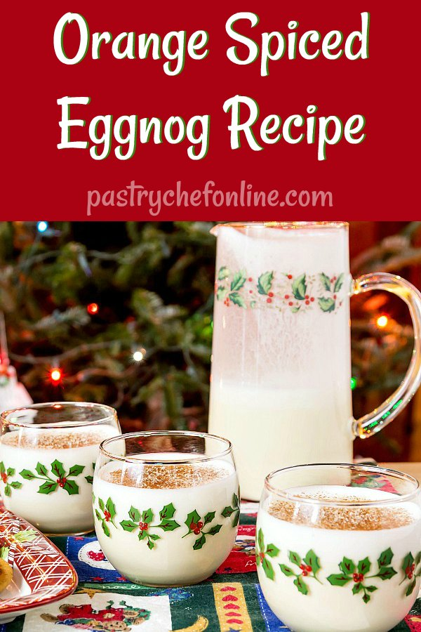 If you love a good boozy eggnog recipe, get ready for my orange spiced eggnog. Tastes like a creamsicle for adults! Spiked with Cointreau (orange liqueur) and spiced rum, this is a wonderful adult eggnog recipe to add to your repertoire! #eggnog #eggnogrecipe #spicedeggnog