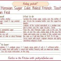 Moravian Sugar Cake Baked French Toast