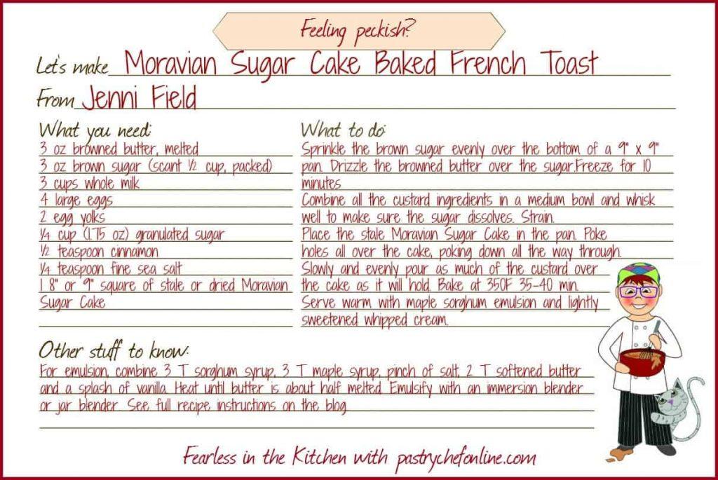 Moravian Sugar Cake Baked French Toast Recipe