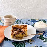 Moravian Sugar Cake Bread Pudding