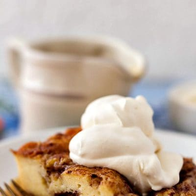 Moravian Sugar Cake Bread Pudding | You Need This. You Do.