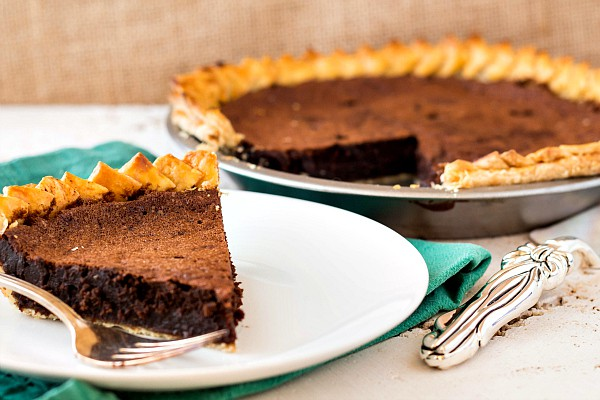 a chocolate chess pie-7