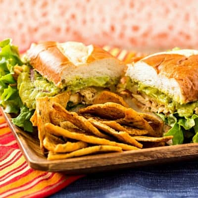Spicy Chicken Guacamole Sandwich or Sliders with Sabra