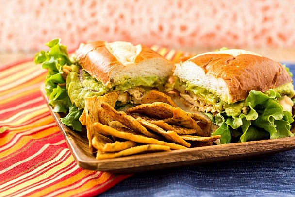 Spicy Chicken Guacamole Sandwich or Sliders with Sabra