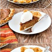 Cinnamon Sorghum Custard Pie