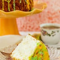 Lemon Lime Angel Food Cake