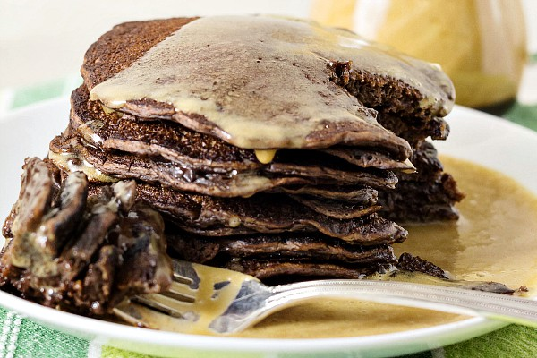 Yeast Raised Chocolate Chocolate Chip Pancakes