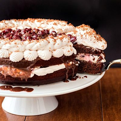 Fudgy Black Forest Cake Inspired by Haw River Brewery
