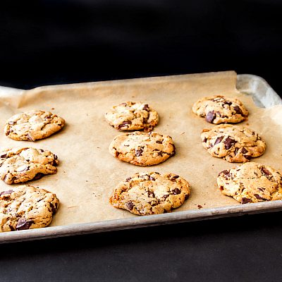 Chocolate Chip Bourbon Honeycomb Cookies