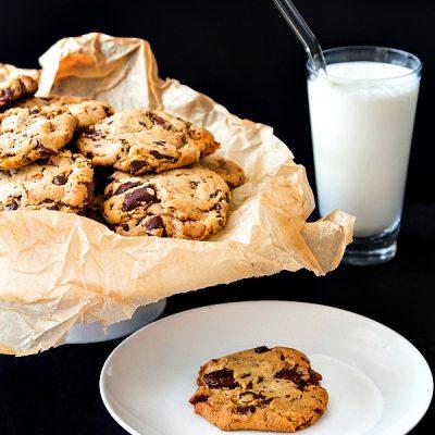 Chocolate Chunk Bourbon Honeycomb Cookies