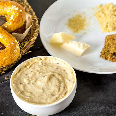 Bread Pretzels with Beer Cheese