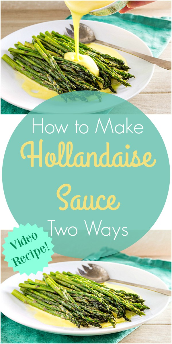 How to make Hollandaise Sauce at home, two ways. Not only do you get a recipe for Hollandaise, I also made a video in which I show you how to make it by hand on the stove top and also using the blender. This is a delicious Hollandaise sauce recipe, and I know you will love it!   pastrychefonline.com