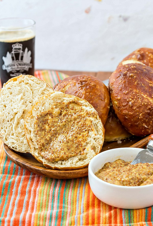 If you love traditional pretzel buns the only way to get that Old-world flavor is by dipping the buns in a weak lye solution before baking. I've made them with a baking soda wash, and while similar, it just isn't the same. This recipe works for both traditional pretzel buns as well as bread pretzels. Do read my list of tips for working with lye safely before beginning. Enjoy! | pastrychefonline.com