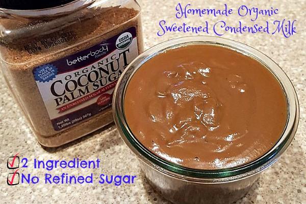 Homemade Organic Sweetened Condensed Milk