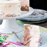 Neapolitan No Churn Ice Cream Cake