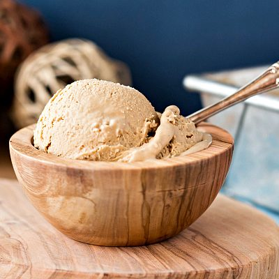 Organic Caramel Vanilla Ice Cream | No Churn, No Refined Sugar