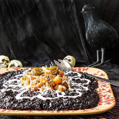 Black Rice Risotto with Butternut Squash