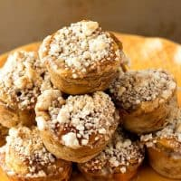 Hawaiian Roll French Toast Muffins with Apple Cider Syrup