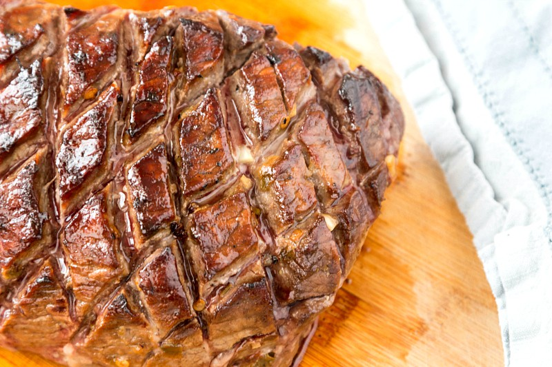 Baldwin Charolais Beef: Sweet and Spicy Marinated Grass Fed London Broil #gottobencbeef